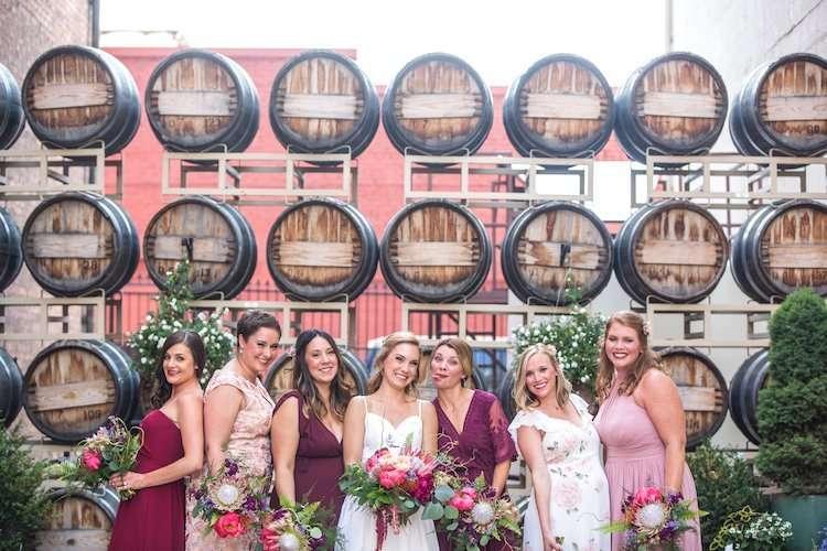 Fun Barrister summer wedding