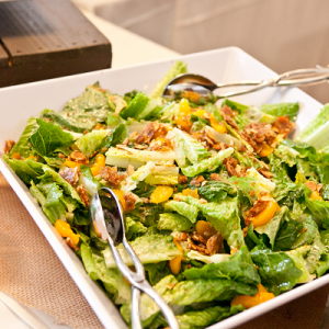 Beacon Hill Catering Romaine Salad with Mandarin Oranges Candied Almonds and Celery Seed Viniagrette by Ifong Chen Photography