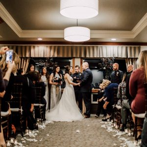 Winter November wedding at Beacon Hill Catering and Events Venue in Spokane, Washington
